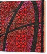Ah - Red Stone Rock'd Art By Sharon Cummings Wood Print