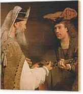 Ahimelech Giving The Sword Of Goliath To David Wood Print