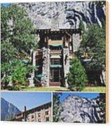 Ahwahnee Hotel In Yosemite National Park Wood Print