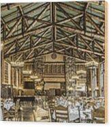 Ahwahnee Dining Room Wood Print