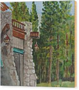Ahwahnee Woods Wood Print