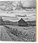 Ah...west Virginia Oil Bw Wood Print