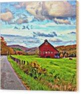 Ah...west Virginia Oil Wood Print