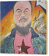 Ai Weiwei Wood Print by Erik Franco