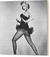 Aint Misbehavin, Piper Laurie, 1955 Wood Print
