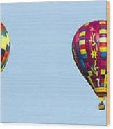 Air Balloons  0208 Wood Print