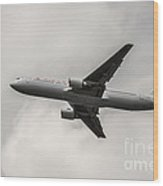 Air Canada B 767 Monochrome Wood Print