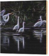 Air Elementals 3 Wood Print