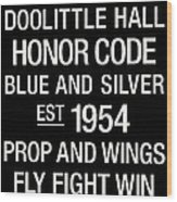 Air Force College Town Wall Art Wood Print by Replay Photos
