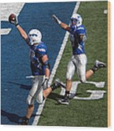 Air Force Touchdown Wood Print