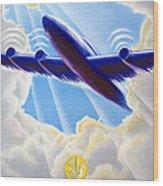 Air France Wood Print