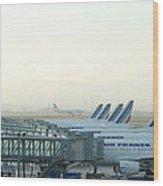 Air France Paris Cdg Wood Print