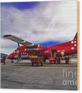 Air Greenland Wood Print