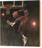 Air Jordan Wood Print by Jumaane Sorrells-Adewale