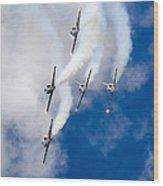 Air Show Baltic Bees Jet Team Wood Print