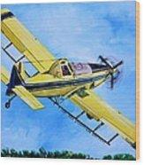 Air Tractor  Wood Print
