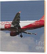Airbus A320 Of Air Berlin Wood Print