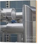 Airconditioning Cooling Pipes Wood Print