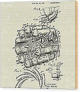 Aircraft Propulsion 1946 Patent Art Wood Print