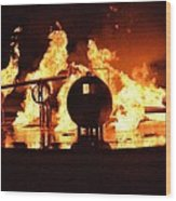 Airforce Fire Deparment Training Wood Print