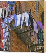 Airing Out The Drawers By Diana Sainz Wood Print