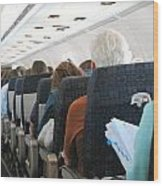 Airline Travel. Wood Print