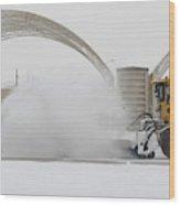 Airmen Clear Taxiway, Kunsan Air Base Wood Print