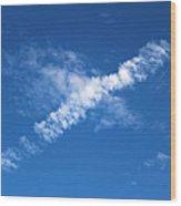 Airplane Cloud Wood Print