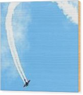 Airplane In Action  Wood Print