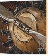 Airplane Motor Wood Print