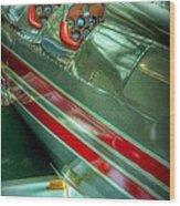 Airplane Vintage Yesterday Wood Print