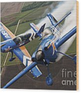 Airplanes Perform At The Sound Of Speed Wood Print by Stocktrek Images