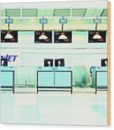 Airport Counters Wood Print
