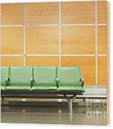 Airport Seats Wood Print