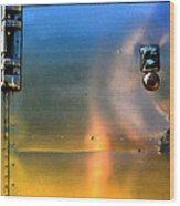 Airstream Sunset Wood Print