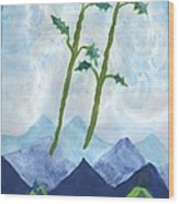 Airy Two Of Wands Wood Print