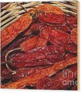 Aji Chilis Wood Print