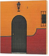 Ajijic Door No.4 Wood Print
