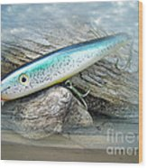 Ajs Baby Weakfish Saltwater Swimmer Fishing Lure Wood Print