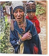 Akha Tribe II Paint Filter Wood Print