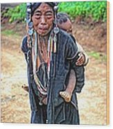 Akha Tribe Wood Print