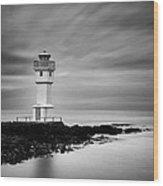 Akranes Lighthouse Wood Print