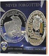 Akron Police Memorial Wood Print
