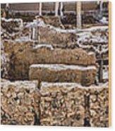 Akrotiri Archaeological Site In Santorini Wood Print