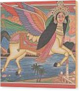 Al Buraq Dul Dul Horse Prophet Muhammad Painting Handmade Islamic Paper Painting Folk Art Wood Print