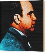 Al Capone C28169 - Black - Painterly - Text Wood Print