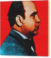 Al Capone C28169 - Red - Painterly Wood Print by Wingsdomain Art and Photography