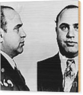 Al Capone Mug Shot Wood Print by Edward Fielding