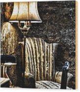 Al Capones Cell Wood Print