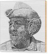 Cowboy Al Holman  Wood Print